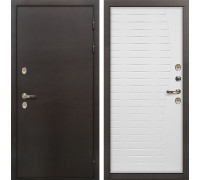 Входная металлическая дверь с терморазрывом Лекс Термо Сибирь 3К Ясень белый (панель №36)