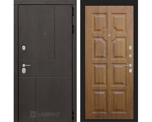 Входная дверь Labirint URBAN 17 Золотой дуб