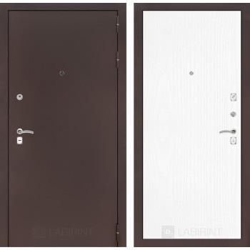 Входная дверь Labirint CLASSIC антик медный 07 - Белое дерево
