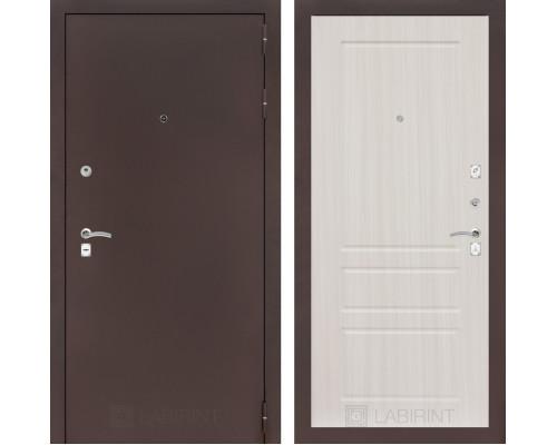 Входная дверь Labirint CLASSIC антик медный 03 - Сандал белый
