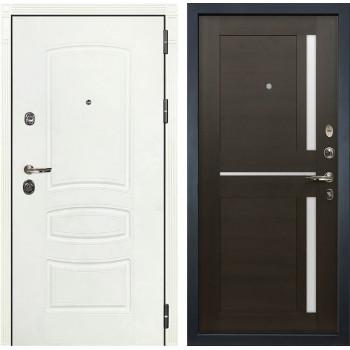Входная металлическая дверь Лекс Сенатор 3К Шагрень белая Баджио (№50 Венге)