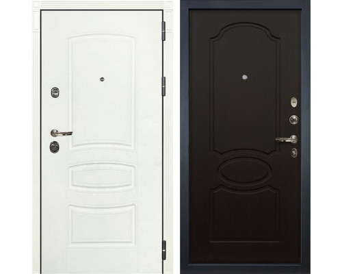 Входная металлическая дверь Лекс Сенатор 3К Шагрень белая (№13 Венге)