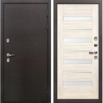 Входная дверь с терморазрывом Лекс Термо Сибирь 3К Сицилио Беленый дуб (панель №46)