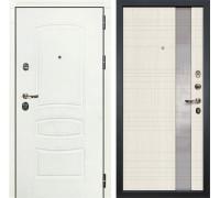 Входная дверь Лекс Сенатор 3К Шагрень белая Новита (№52 Дуб беленый)