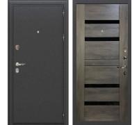 Входная металлическая дверь Лекс Колизей Неро Графит Шале (панель №65)