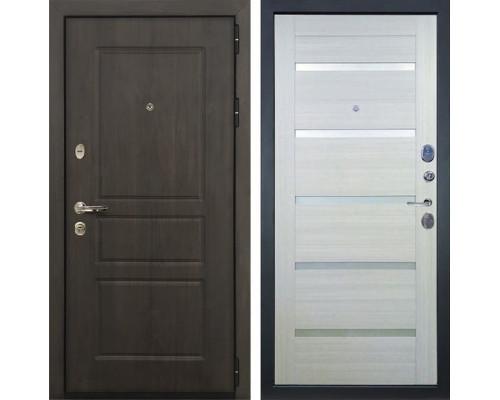 Входная стальная дверь Лекс Сенатор Винорит Клеопатра-2 Белёный дуб (панель №58)