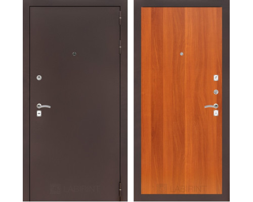 Входная дверь Labirint CLASSIC антик медный 05 Итальянский орех