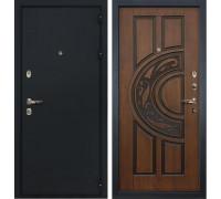 Входная металлическая дверь Лекс Рим Голден патина черная (панель №27)