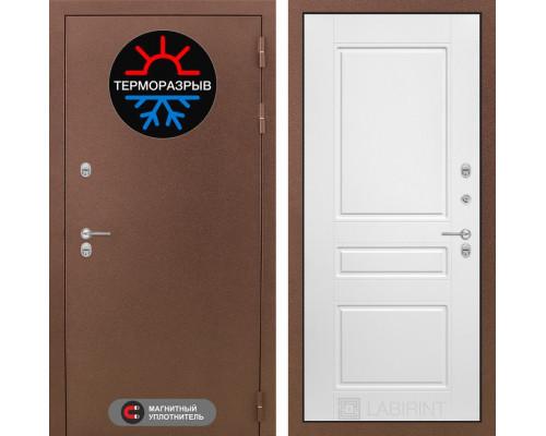 Входная дверь с терморазрывом Labirint Термо Магнит 03 Белый софт (уличные двери с терморазрывом)