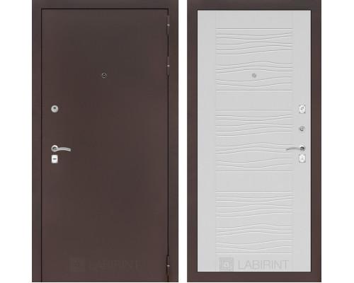 Входная дверь Labirint CLASSIC антик медный 06 - Белое дерево