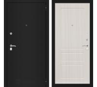 Входная дверь Labirint CLASSIC шагрень черная 03 - Сандал белый