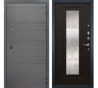Входная дверь Лекс Сенатор 3К Софт графит с Зеркалом (№22 Венге)