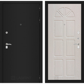 Входная дверь Labirint CLASSIC шагрень черная 15 - Алмон 25