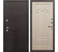 Входная металлическая дверь с терморазрывом Лекс Термо Сибирь 3К Беленый дуб (панель №25)