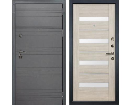 Входная дверь Лекс Сенатор 3К Софт графит Сицилио (№48 Ясень кремовый)