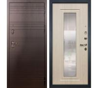 Входная металлическая дверь Лекс Легион с Зеркалом Белёный дуб (панель №23)
