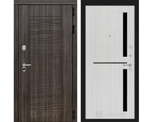 Входная дверь Labirint SCANDI Дарк грей 02 - Сандал белый