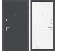 Входная дверь ART графит 11 Белый софт