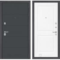 Двери Лабиринт входная дверь Labirint ART графит 11 Белый софт (квартирные двери)