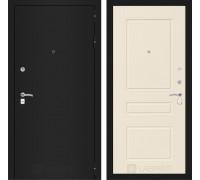 Входная дверь Labirint CLASSIC шагрень черная 03 - Крем софт