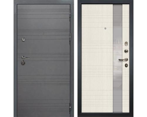 Входная дверь Лекс Сенатор 3К Софт графит Новита (№52 Дуб беленый)