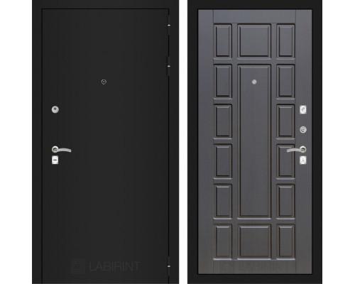 Входная дверь Labirint CLASSIC шагрень черная 12 - Венге