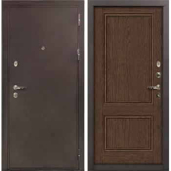 Входная металлическая дверь Лекс 5А Цезарь Энигма-1 Орех (панель №57)