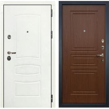 Входная металлическая дверь Лекс Сенатор 3К Шагрень белая (№19 Береза мореная)