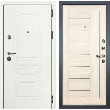 Входная дверь Лекс Сенатор 3К Шагрень белая Верджиния (№38 Дуб беленый)