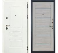 Входная дверь Лекс Сенатор 3К Шагрень белая Клеопатра-2 (№66 Ясень кремовый)