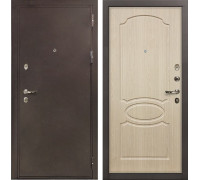 Входная металлическая дверь Лекс 5А Цезарь Дуб беленый (панель №14)