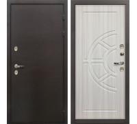 Входная металлическая дверь с терморазрывом Лекс Термо Сибирь 3К Сандал белый (панель №44)