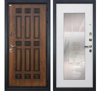 Входная металлическая дверь Лекс Гладиатор 3К Винорит с Зеркалом Ясень белый (панель №37)