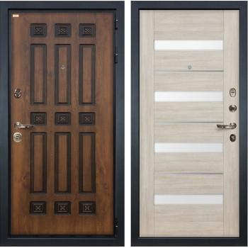 Входная металлическая дверь Лекс Гладиатор 3К Винорит Сицилио Ясень кремовый (панель №48)