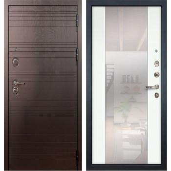 Входная металлическая дверь Лекс Легион Стиль с Зеркалом Ясень белый (панель №61)