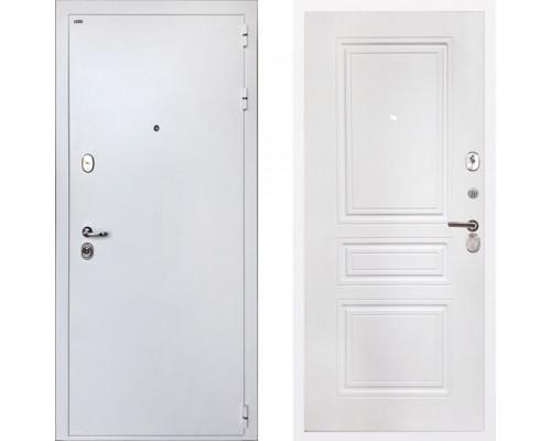 Входная металлическая дверь Интекрон Колизей White ФЛ-243-М Белая Матовая