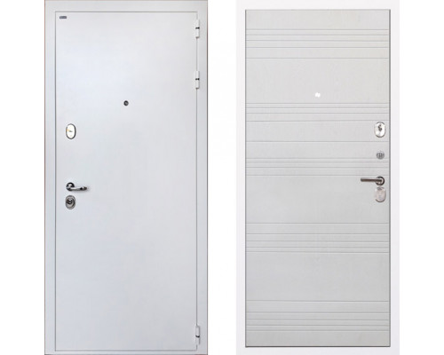 Входная металлическая дверь Интекрон Колизей White ФЛ-316 Белый Ясень