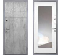 Входная металлическая дверь Интекрон Спарта Грей с зеркалом