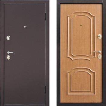 Металлическая дверь Интерио Светлый Орех