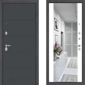 Зеркальная дверь в квартирус зеркалом Йошкар-Ола 1А с зеркалом Макси Белый Софт