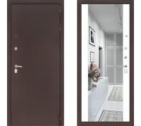 Входная металлическая дверь Labirint Classic Антик с зеркалом Макси Белый Софт