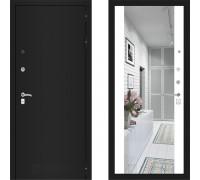 Металлическая дверь Labirint Classic Шагрень с зеркалом Макси Белый Софт
