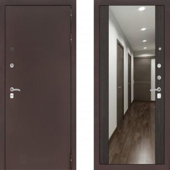 Входная металлическая дверь с зеркалом Labirint Classic антик с зеркалом Макси Венге
