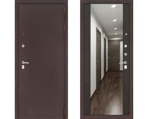 Входная металлическая дверь Labirint Classic Антик с зеркалом Макси Венге