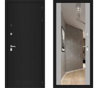 Металлическая дверь Labirint Classic Шагрень с зеркалом Макси Софт Грей