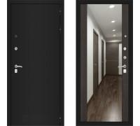 Металлическая дверь Labirint Classic Шагрень с зеркалом Макси Венге