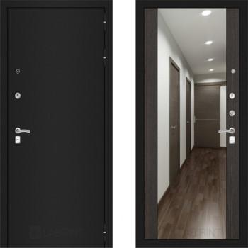 Входная металлическая дверь с зеркалом Labirint Classic шагрень с зеркалом Макси Венге