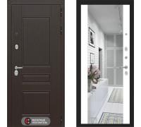 Входная металлическая дверь Labirint Megapolis Макси Белый Софт зеркало