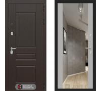 Входная металлическая дверь Labirint Megapolis Макси Софт Грей зеркало