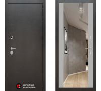 Металлическая дверь Labirint Silver с зеркалом Макси Софт Грей